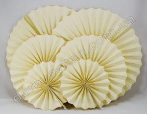 подвесные веера, веерные круги желтый
