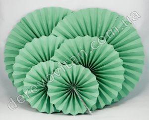 подвесные веера, веерные круги зеленый